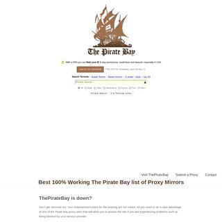 En – ThePirateBay is down- Here is 100- Free TPB Proxy List
