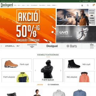 Utcai- és outdoor ruházat, cipők - www.dockyard.hu