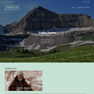 Colby's Site – A website for Colby Foote