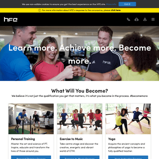 Fitness Courses, Training and Qualifications - HFE