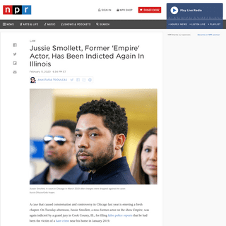 'Empire' Actor Jussie Smollett Indicted A Second Time For Filing False Reports - NPR