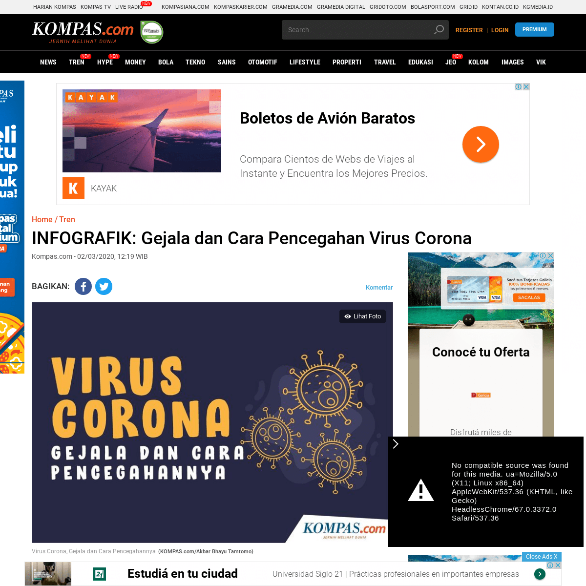INFOGRAFIK- Gejala dan Cara Pencegahan Virus Corona