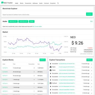 NEO Tracker Blockchain Explorer & Wallet