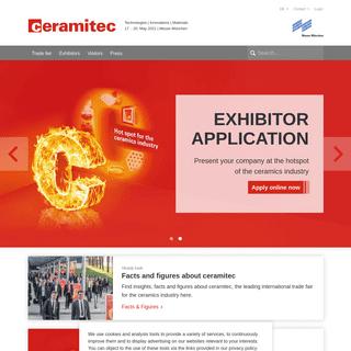 ceramitec - Leading trade fair for the ceramics industry