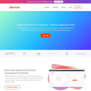 Create Contests & Giveaways, Landing Pages & Forms - Woorise