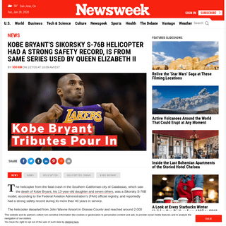 ArchiveBay.com - www.newsweek.com/kobe-bryant-helicopter-crash-s-76b-model-lockheed-martin-1484184 - Kobe Bryant's Sikorsky S-76B Helicopter Had a Strong Safety Record, Is From Same Series Used by Queen Elizabeth II