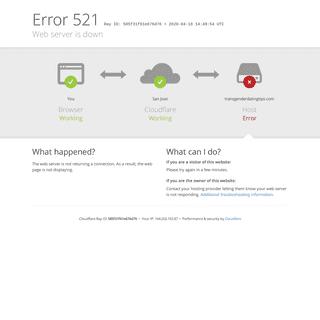 transgenderdatingtips.com - 521- Web server is down