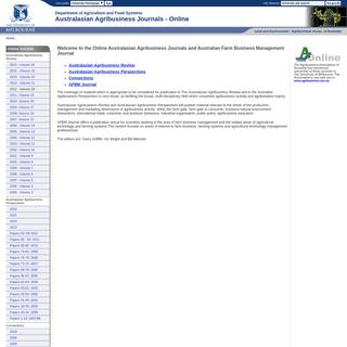 Australasian Agribusiness Journals Online
