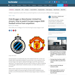 Club Brugge vs Manchester United live stream- how to watch Europa League football online from anywhere right now - TechRadar