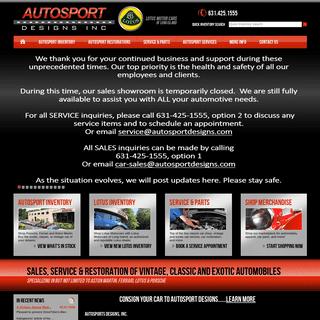 ArchiveBay.com - autosportdesigns.com - Autosport Designs - Exotic, Vintage and Classic Car Sales, Service and Restoration - Buy Lotus Motorcars