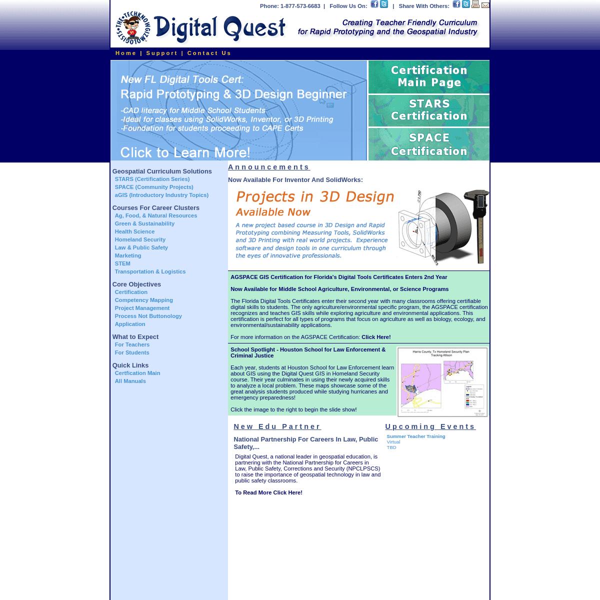 ArchiveBay.com - digitalquest.com - Digital Quest, Inc. - Rapid Prototyping & Geospatial Training