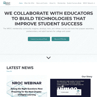 The NROC Project