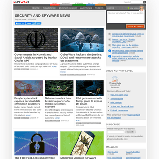 Security and spyware news