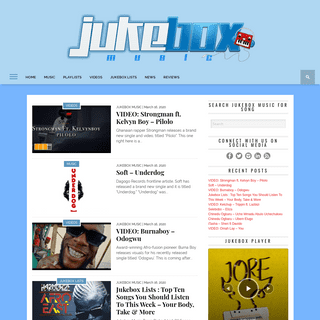 Jukebox Music — #1 African Music Streaming & Downloads Website — Jukebox Music