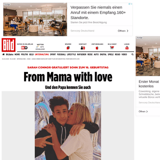 Sarah Connor gratuliert Sohn Tyler zum Geburtstag- From Mama with love - Leute - Bild.de
