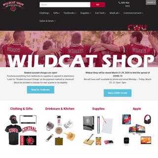 CWU Wildcat Shop - Textbooks, Supplies, Apparel