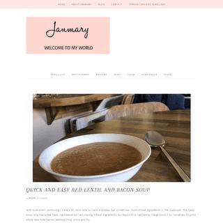 Janmary - Welcome to my world northern ireland