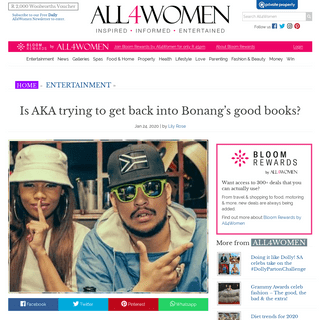 Is AKA trying to get back into Bonang's good books- – All 4 Women