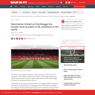 Manchester United vs Club Brugge live stream- how to watch in 4K, anywhere in the world - What Hi-Fi-