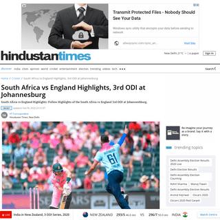South Africa vs England Highlights, 3rd ODI at Johannesburg - cricket - Hindustan Times