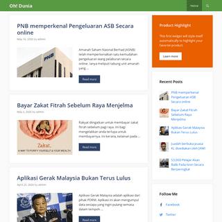 Oh! Dunia - Blog Berkongsi Perihal Malaysia dan Dunia