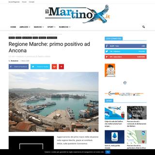 Regione Marche- primo positivo ad Ancona - Il Martino