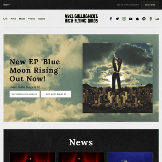 Official Website - Noel Gallagher's High Flying Birds