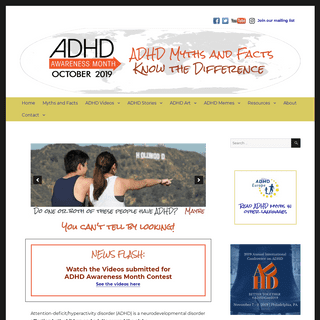 ADHD Awareness Month – October 2019 – ADHD Myths and Facts- Know the Difference