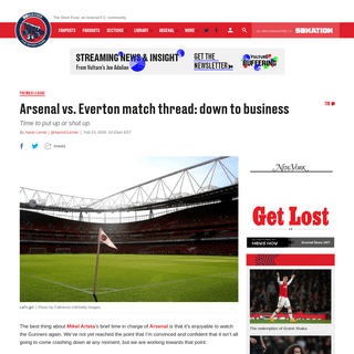 ArchiveBay.com - theshortfuse.sbnation.com/2020/2/23/21149452/arsenal-everton-game-time-tv-channels-how-to-watch-premier-league-online-streaming - Arsenal vs. Everton Premier League 2020 online streaming- start time, TV schedule, how to watch online - The Short Fuse