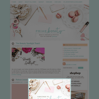 Prime Beauty - a beauty resource for women 40+ and in their prime!