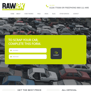 Scrap your car, cash paid, free collection and disposal.