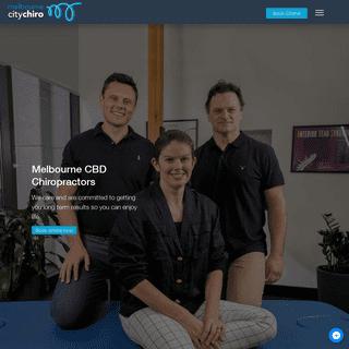 Melbourne City Chiropractic - Melbourne Chiropractors - Posture Correction Chiropractors