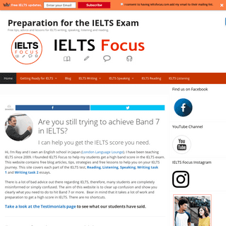 IELTS Focus. Free lessons, advice and tips for IELTS preparation.