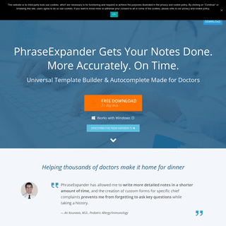 ArchiveBay.com - phraseexpander.com - Text Expander for Windows designed for Pros - PhraseExpander