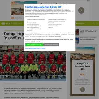 ArchiveBay.com - www.rtp.pt/noticias/andebol/portugal-no-pote-1-para-sorteio-do-play-off-para-mundial2021-de-andebol_d1202713 - Portugal no pote 1 para sorteio do `play-off` para Mundial2021 de andebol