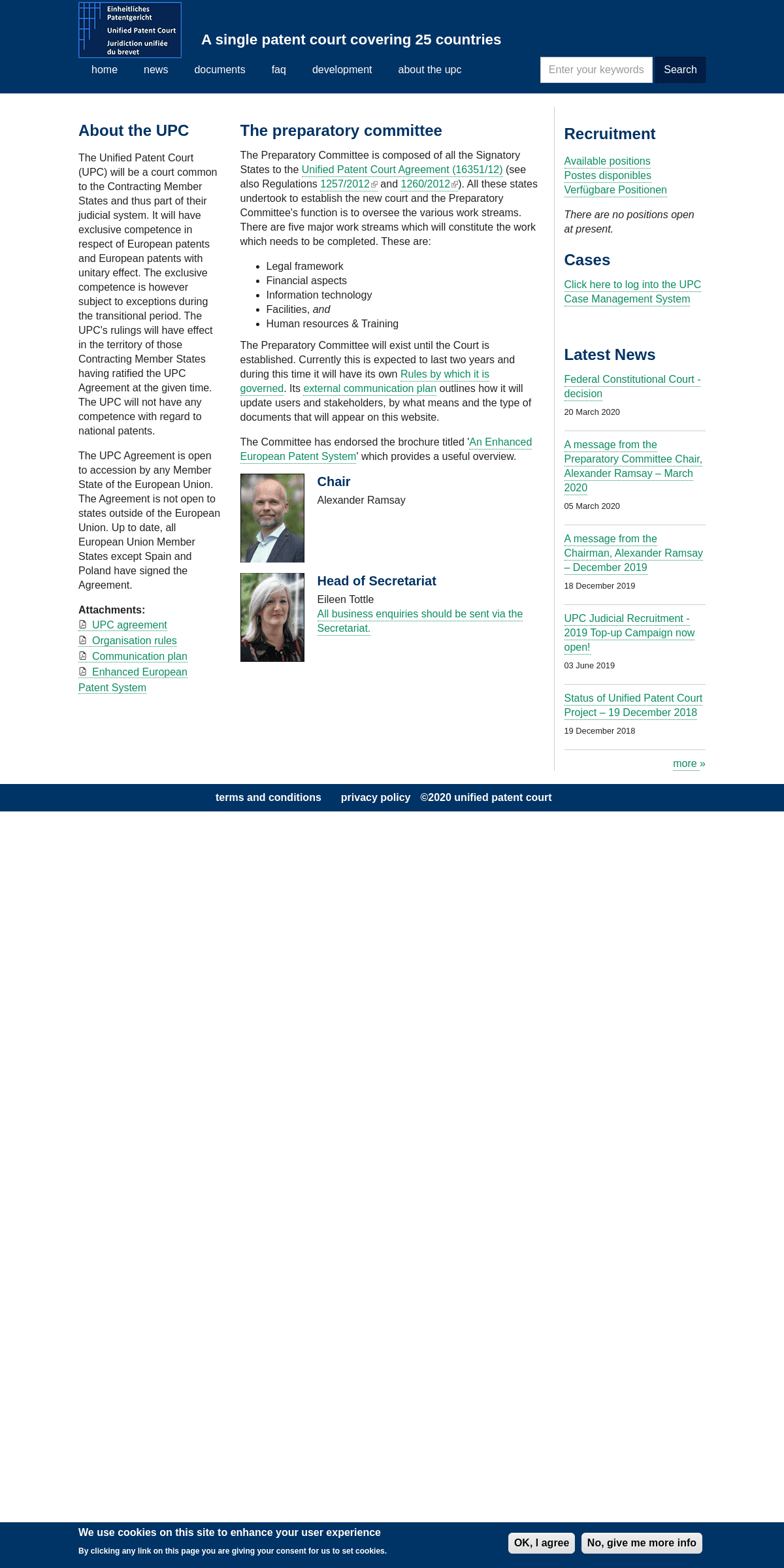 Unified Patent Court - A single patent court covering 25 countries