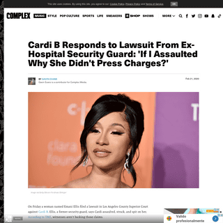 ArchiveBay.com - www.complex.com/music/2020/02/cardi-b-responds-lawsuit-hospital-security-guard-charges - Cardi B Responds to Lawsuit From Ex-Hospital Security Guard - Complex
