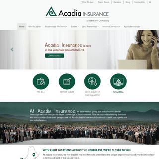 Commercial Property Casualty Insurance - Acadia Insurance a Berkley Co