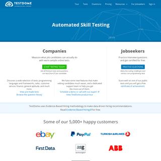 TestDome - Automated Pre-employment Skill Testing