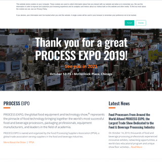 PROCESS EXPO - The Global Food Equipment and Technology Show