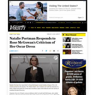 ArchiveBay.com - variety.com/2020/film/news/natalie-portman-rose-mcgowan-response-oscars-1203502477/ - Natalie Portman Responds to Rose McGowan's Oscars Dress Criticism – Variety