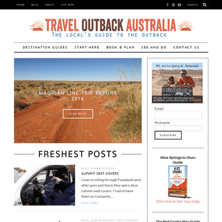 Travel Guide to the Australian Outback - Travel Outback Australia