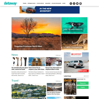 Getaway Magazine - Travel news, holiday packages, accommodation and events across Southern Africa