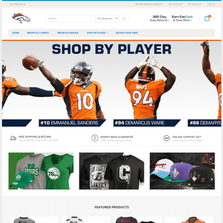 Denver Broncos Jerseys, Apparel, Broncos Shop, Gear