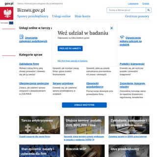 Biznes.gov.pl - Serwis informacyjno-usługowy dla przedsiębiorcy - Biznes.gov.pl - Serwis informacyjno-usługowy dla przedsięb