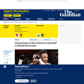 ArchiveBay.com - www.theguardian.com/football/2020/feb/16/arsenal-turn-on-the-style-in-second-half-to-thrash-newcastle - Arsenal turn on the style in second half to thrash Newcastle - Football - The Guardian