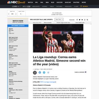 La Liga roundup- Correa earns Atletico Madrid, Simeone second win of the year (video) - ProSoccerTalk - NBC Sports