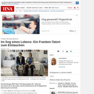 Franken-Tatort in der ARD- -Die Nacht gehört dir- - Ein Krimi zum Eintauchen - Kultur
