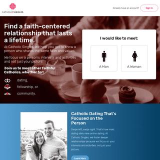 Catholic Dating Site For Catholic Singles - CatholicSingles.com