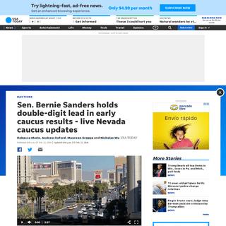 Live Nevada caucus updates- Bernie Sanders looks to remain frontrunner